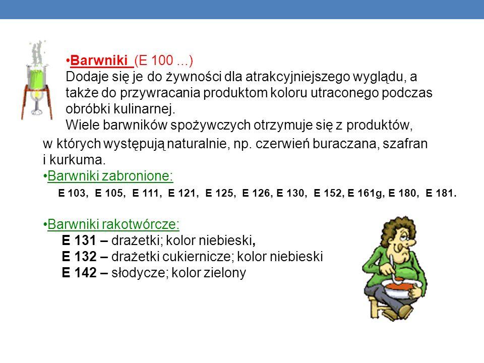 Barwniki (E 100 ...)