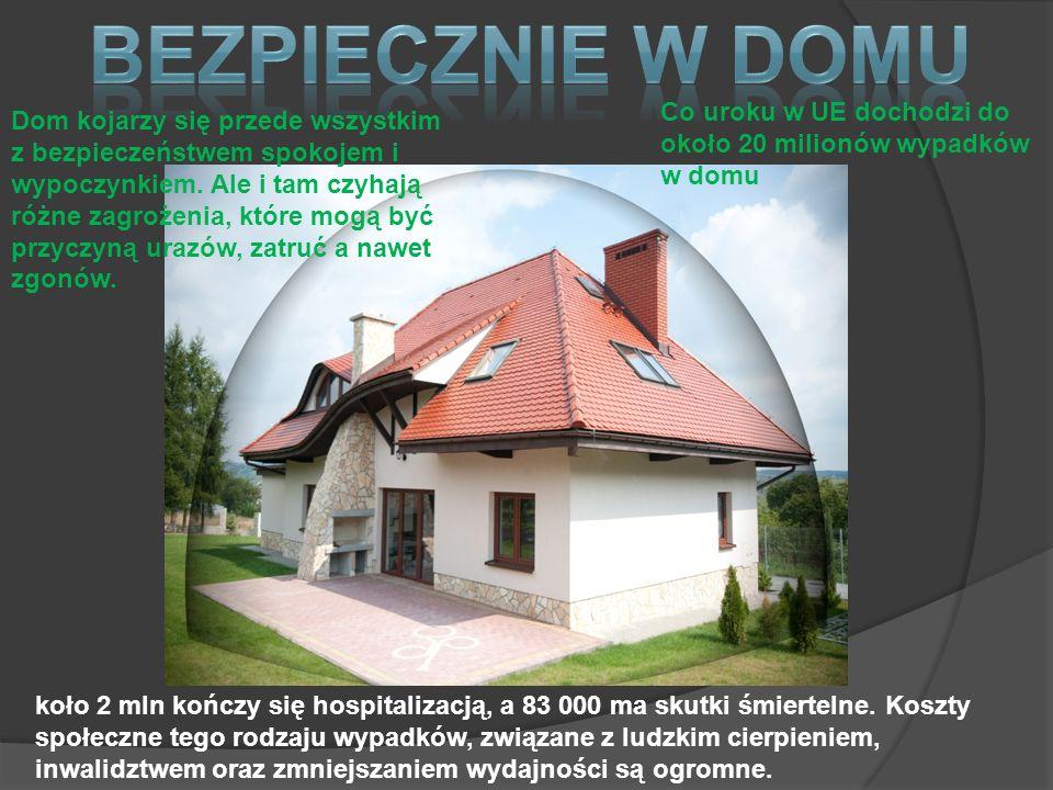 Bezpiecznie w domu Co uroku w UE dochodzi do około 20 milionów wypadków w domu.