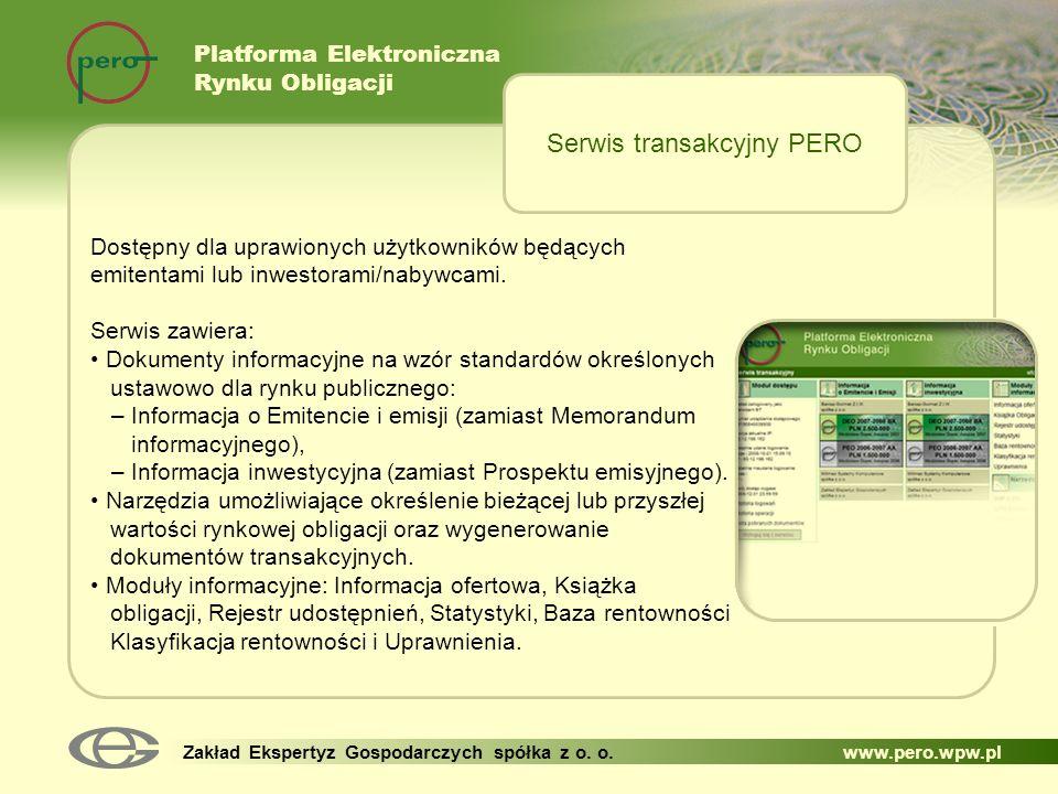 Serwis transakcyjny PERO