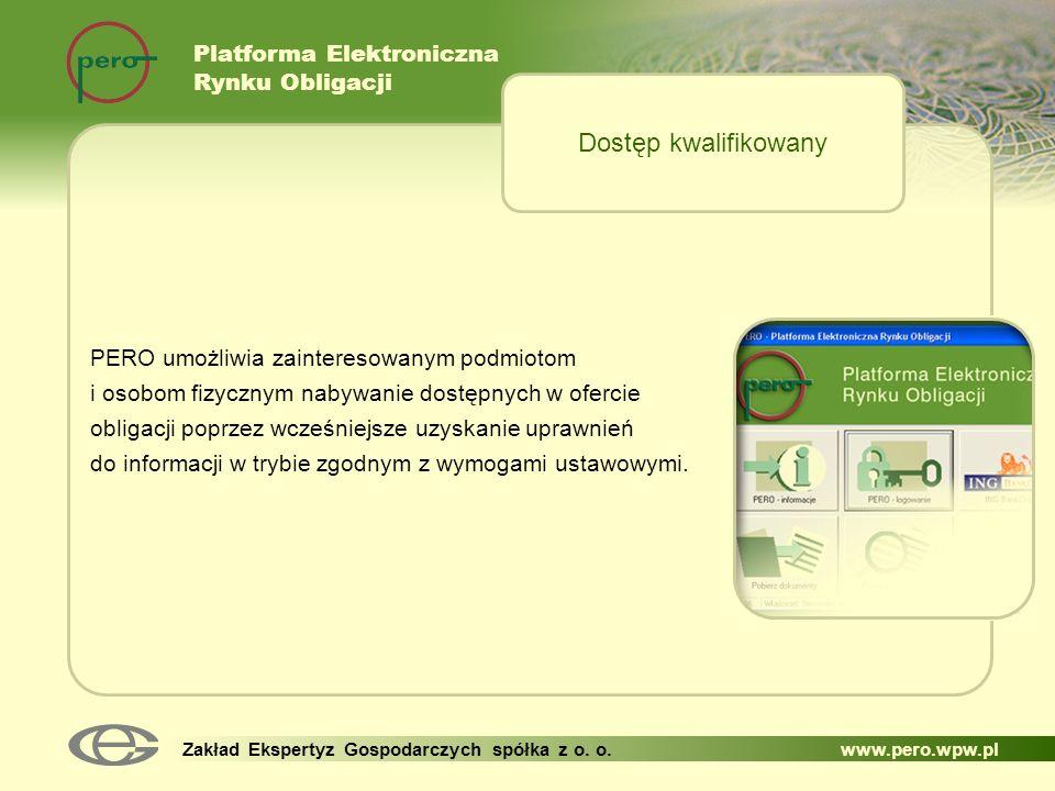 Dostęp kwalifikowany Platforma Elektroniczna Rynku Obligacji