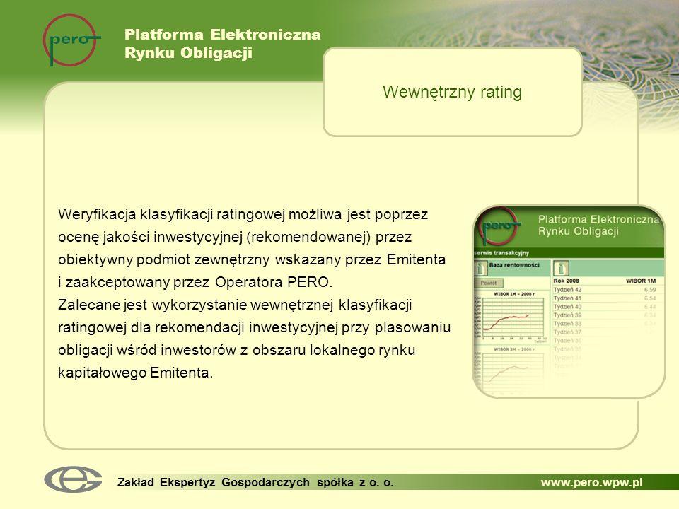 Wewnętrzny rating Platforma Elektroniczna Rynku Obligacji