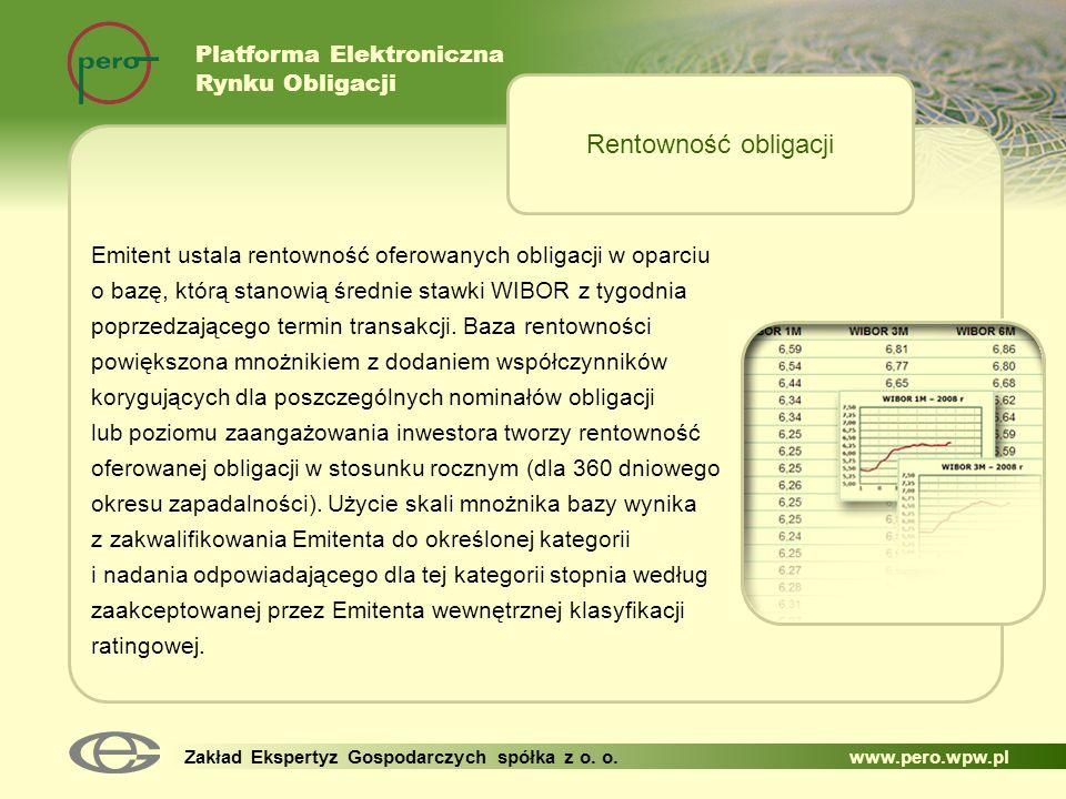 Rentowność obligacji Platforma Elektroniczna Rynku Obligacji