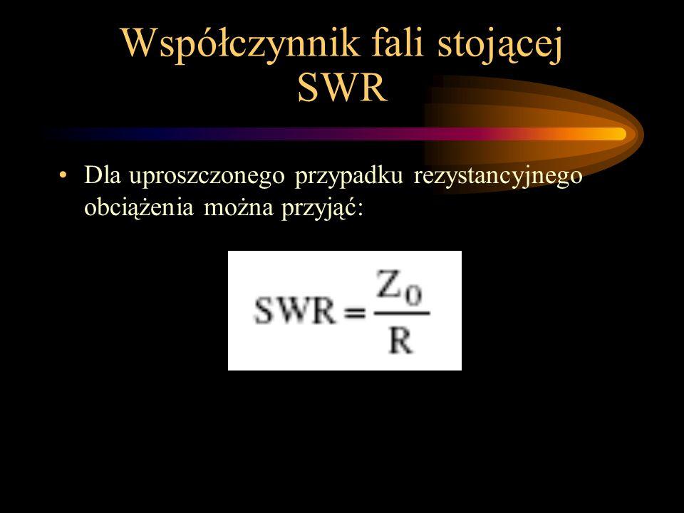 Współczynnik fali stojącej SWR