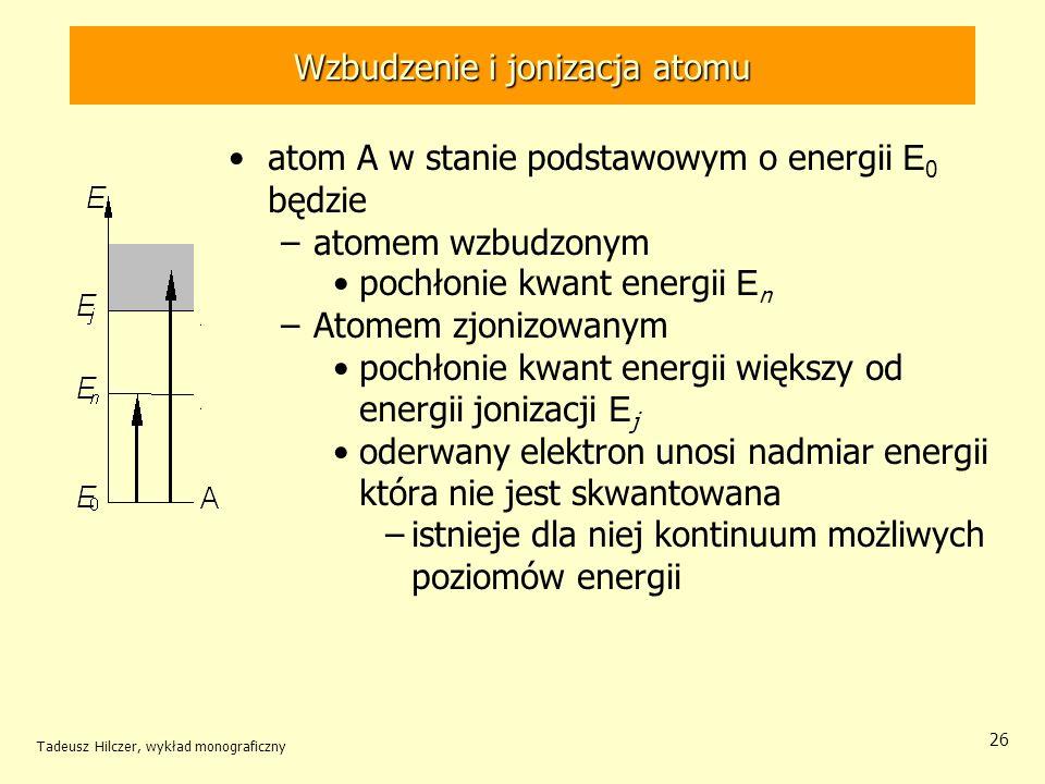 Wzbudzenie i jonizacja atomu