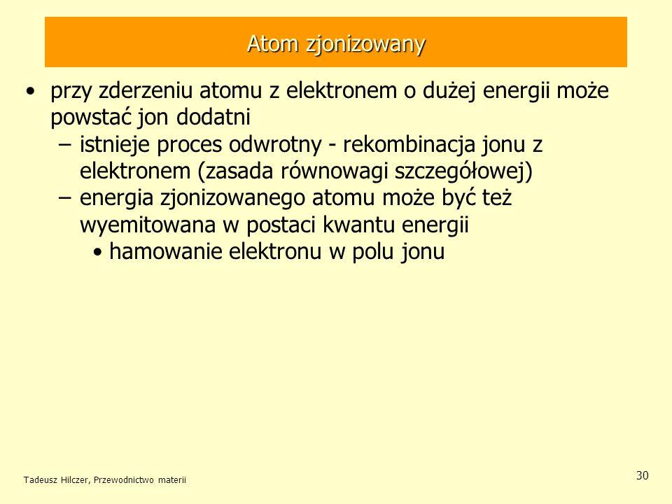 hamowanie elektronu w polu jonu