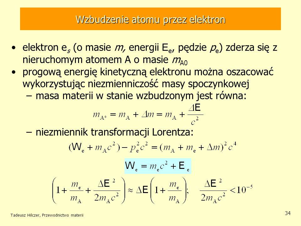 Wzbudzenie atomu przez elektron