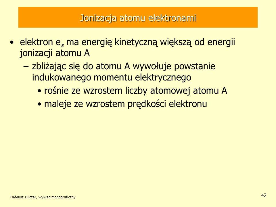 Jonizacja atomu elektronami
