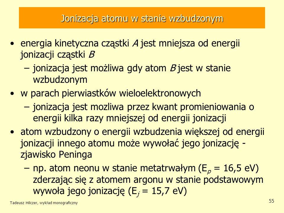 Jonizacja atomu w stanie wzbudzonym