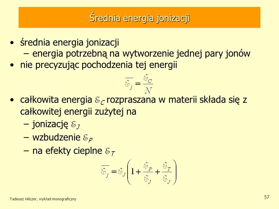 Średnia energia jonizacji