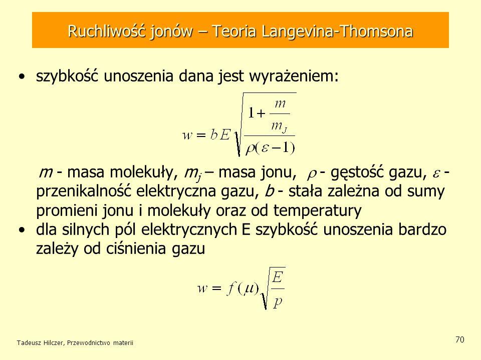 Ruchliwość jonów – Teoria Langevina-Thomsona