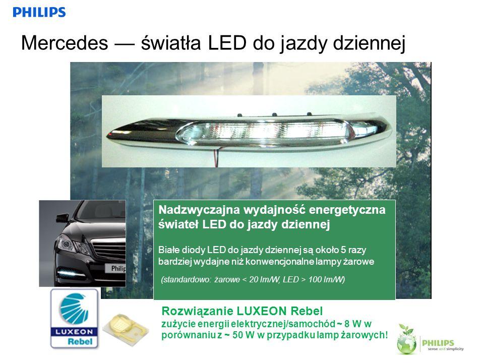 Mercedes — światła LED do jazdy dziennej