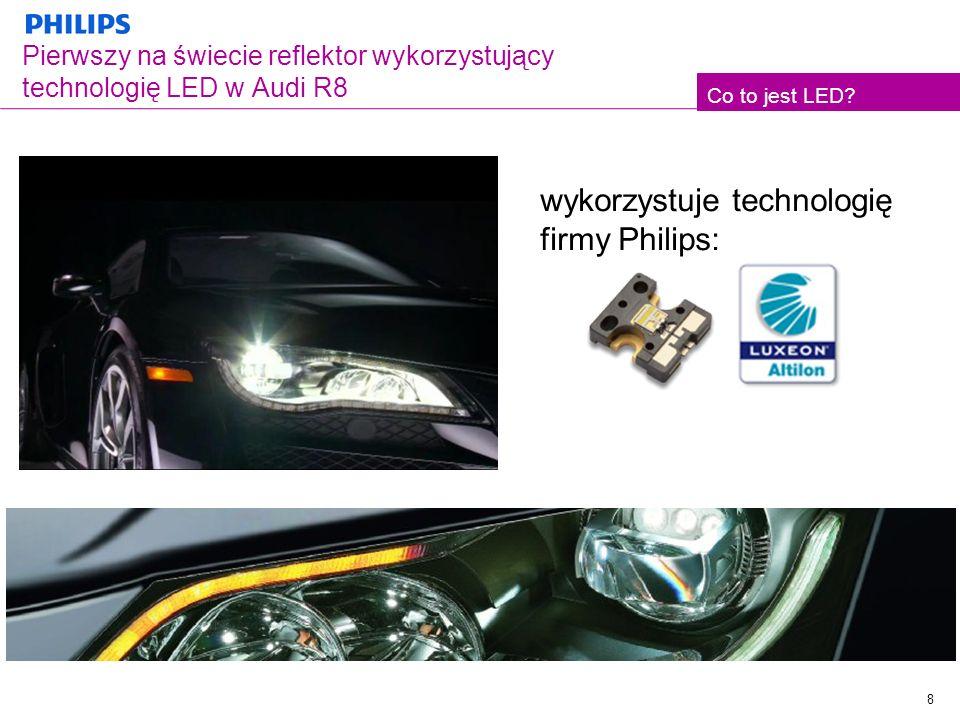 Pierwszy na świecie reflektor wykorzystujący technologię LED w Audi R8