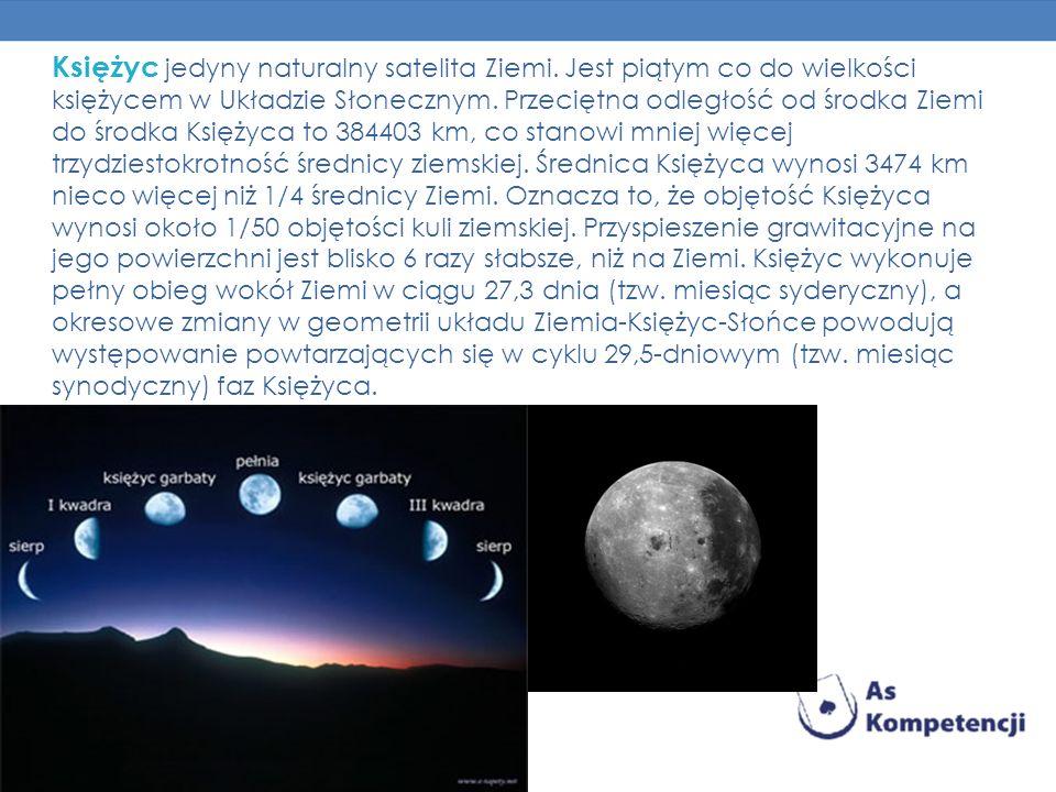 Księżyc jedyny naturalny satelita Ziemi