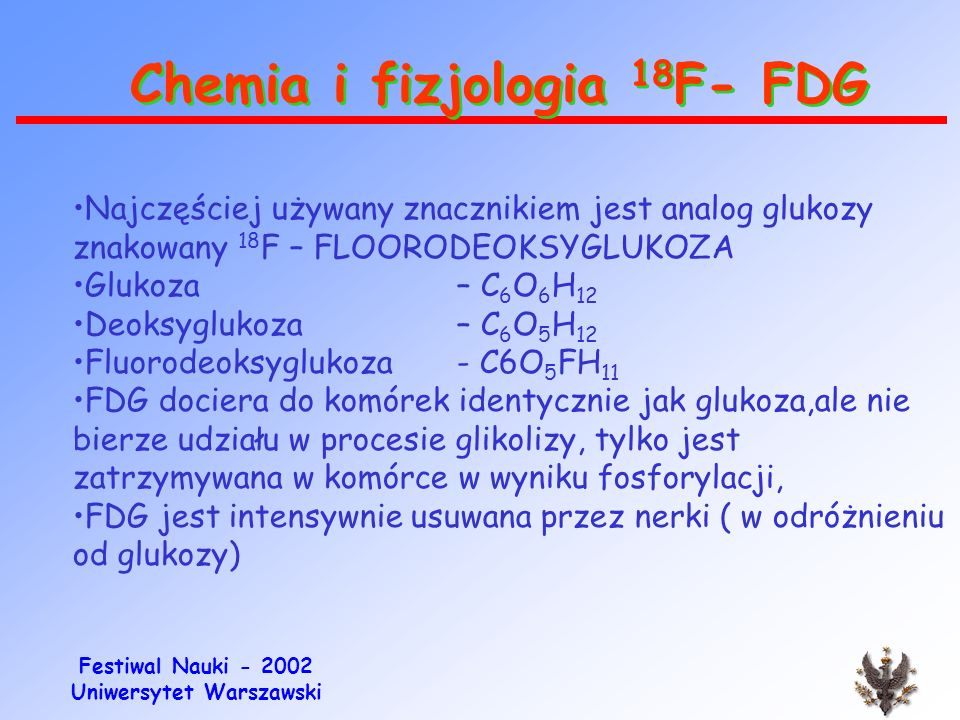 Chemia i fizjologia 18F- FDG