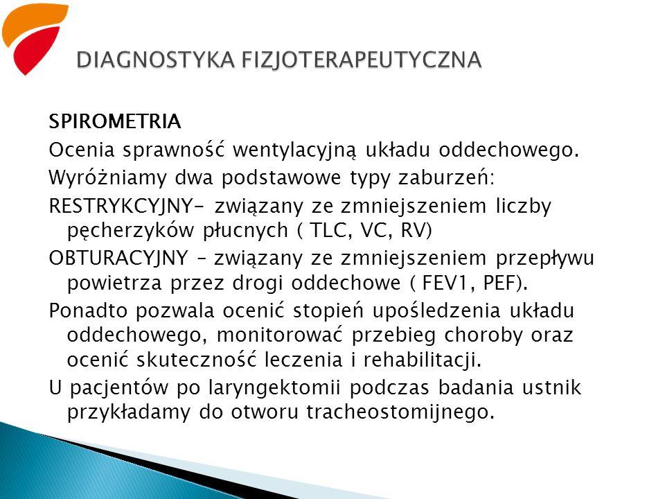 DIAGNOSTYKA FIZJOTERAPEUTYCZNA