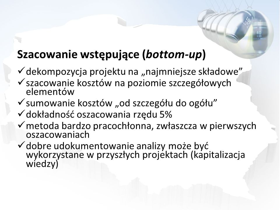 Szacowanie wstępujące (bottom-up)