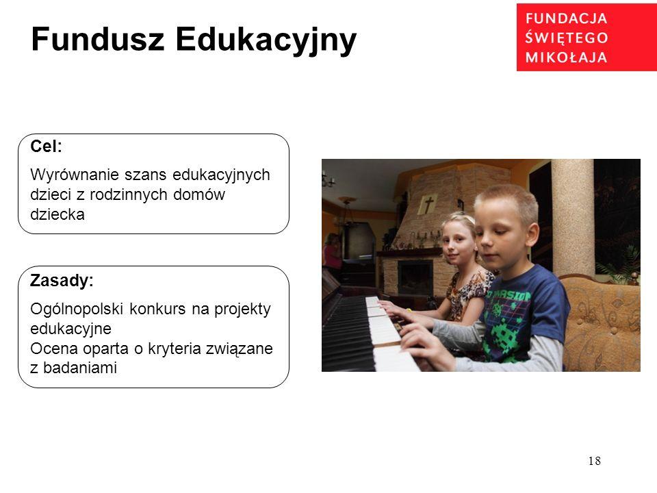Fundusz Edukacyjny Cel: Zasady: