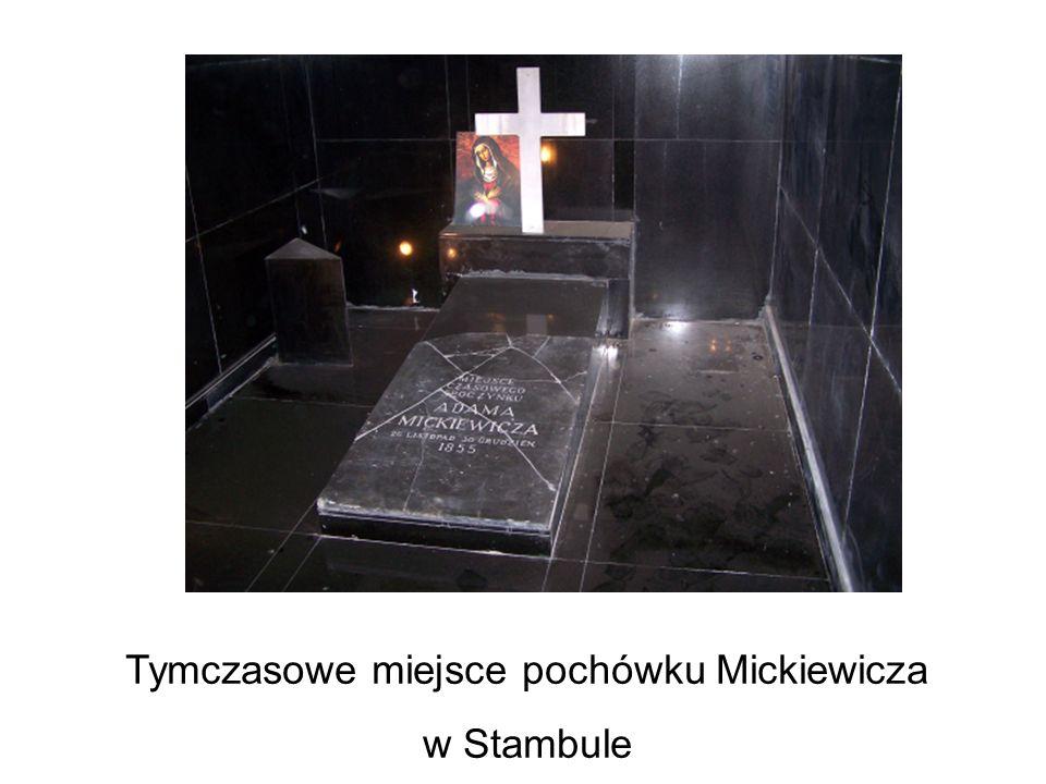 Tymczasowe miejsce pochówku Mickiewicza
