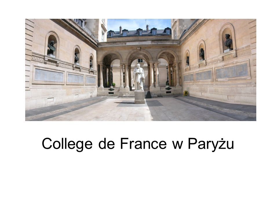 College de France w Paryżu