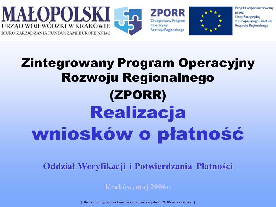 Oddział Weryfikacji i Potwierdzania Płatności Kraków, maj 2006r.