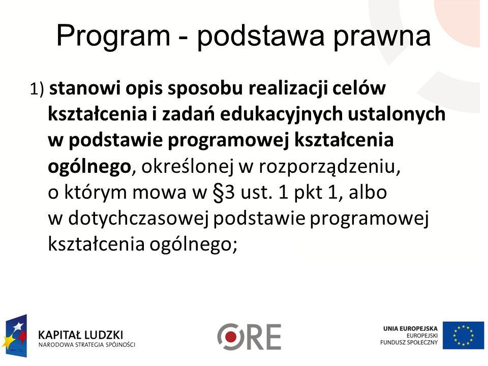 Program - podstawa prawna