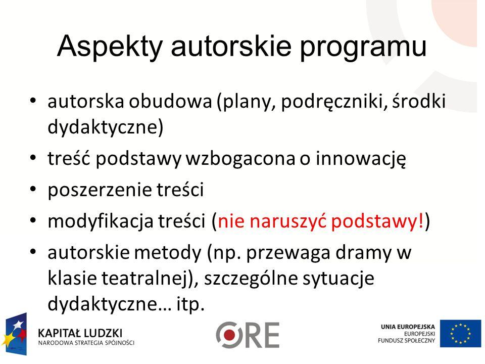 Aspekty autorskie programu