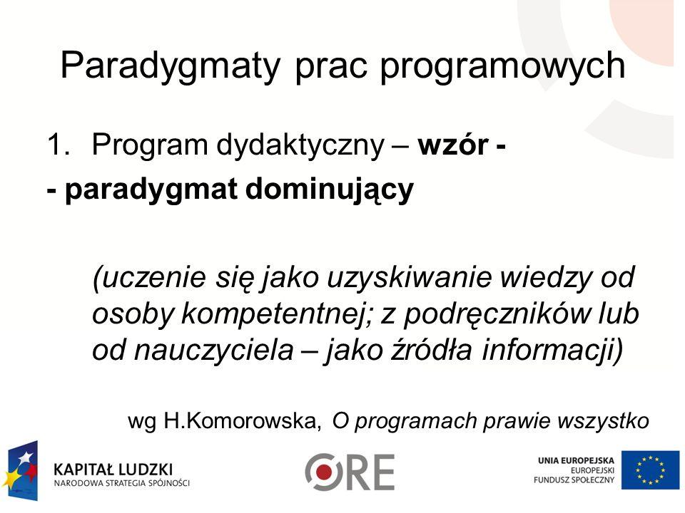 Paradygmaty prac programowych