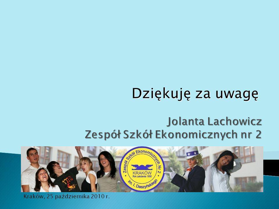 Jolanta Lachowicz Zespół Szkół Ekonomicznych nr 2
