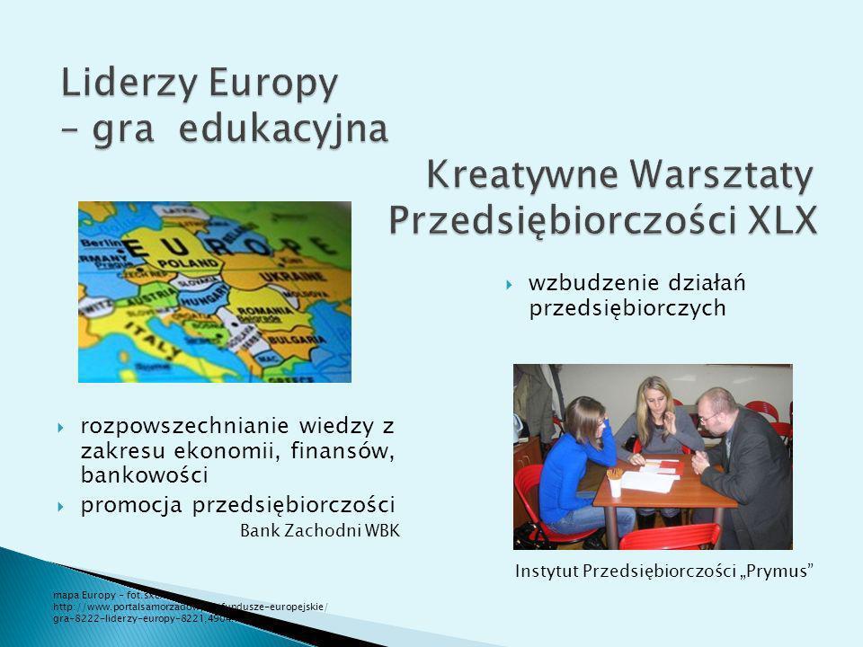 Liderzy Europy – gra edukacyjna Kreatywne Warsztaty Przedsiębiorczości XLX