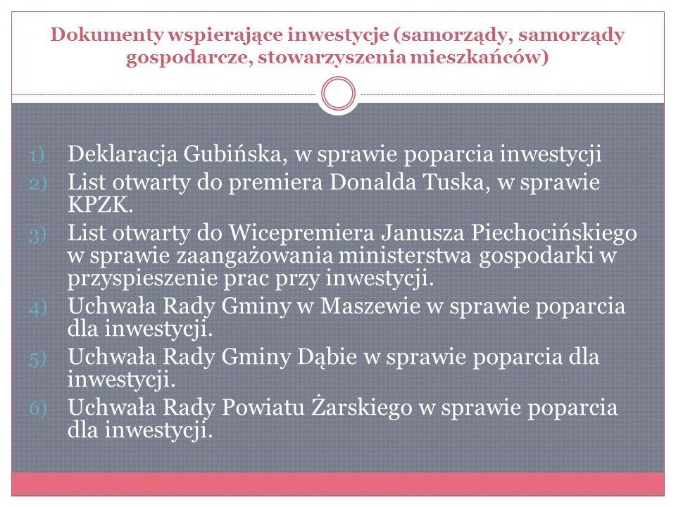 Deklaracja Gubińska, w sprawie poparcia inwestycji