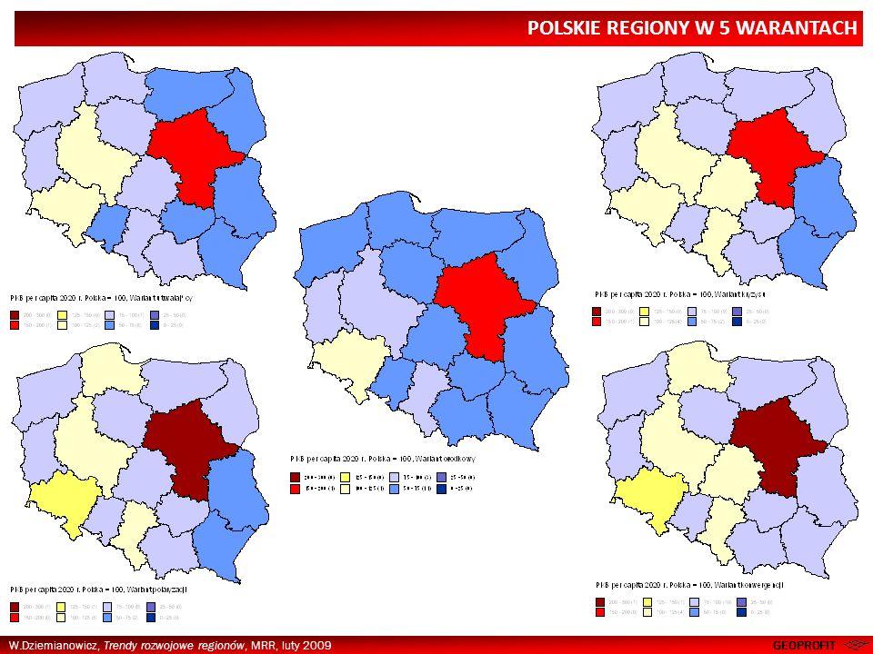 POLSKIE REGIONY W 5 WARANTACH
