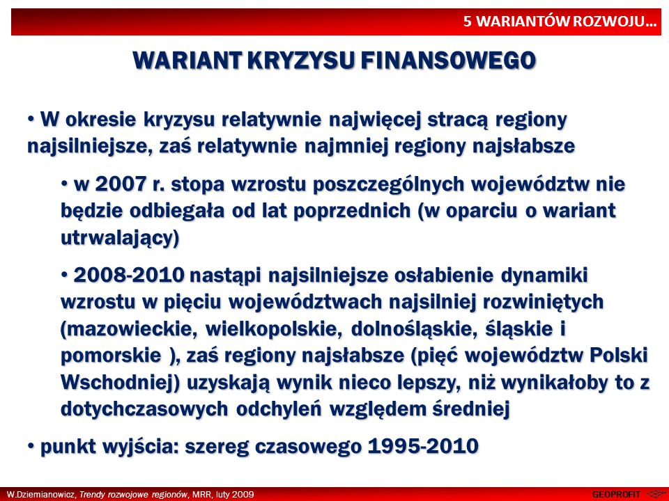 WARIANT KRYZYSU FINANSOWEGO
