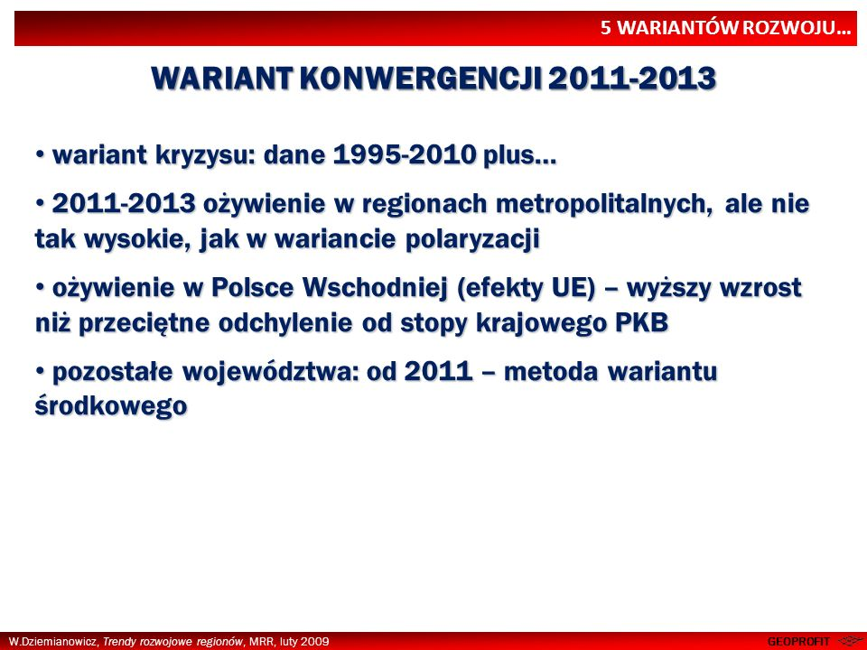 WARIANT KONWERGENCJI 2011-2013