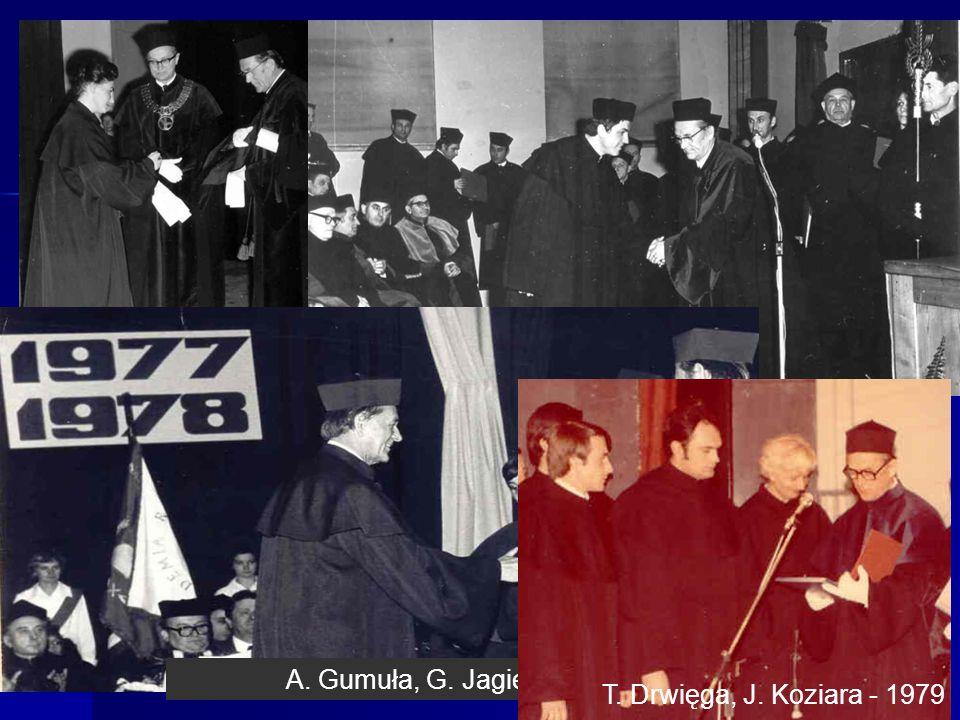 Promocje doktorskie M. Wesołowska - 1974 Jan Suwała - 1973