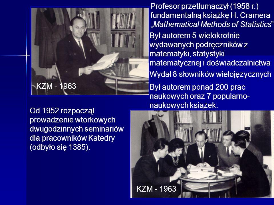 Profesor przetłumaczył (1958 r. ) fundamentalną książkę H