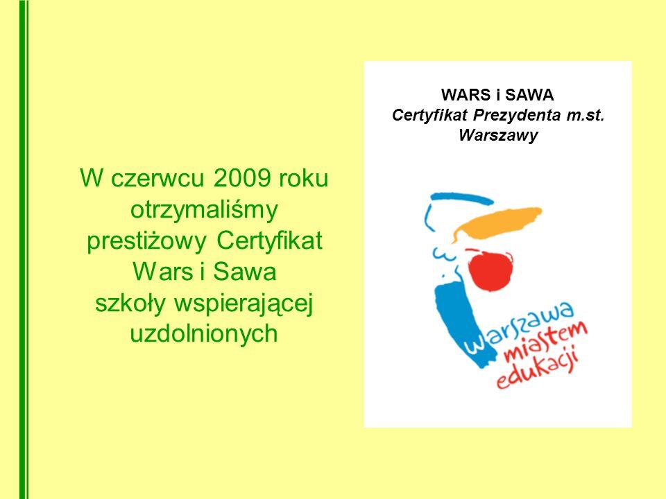 Certyfikat Prezydenta m.st. Warszawy