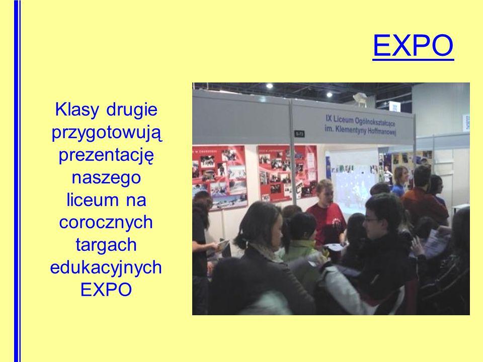 EXPO Klasy drugie przygotowują prezentację naszego liceum na corocznych targach edukacyjnych EXPO