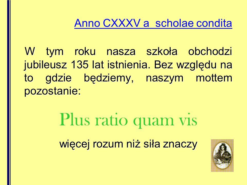 Anno CXXXV a scholae condita