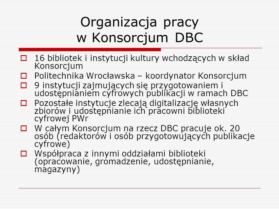 Organizacja pracy w Konsorcjum DBC