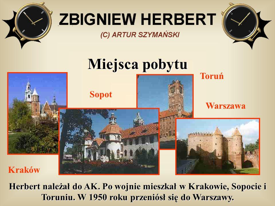Miejsca pobytu Toruń Sopot Warszawa Kraków