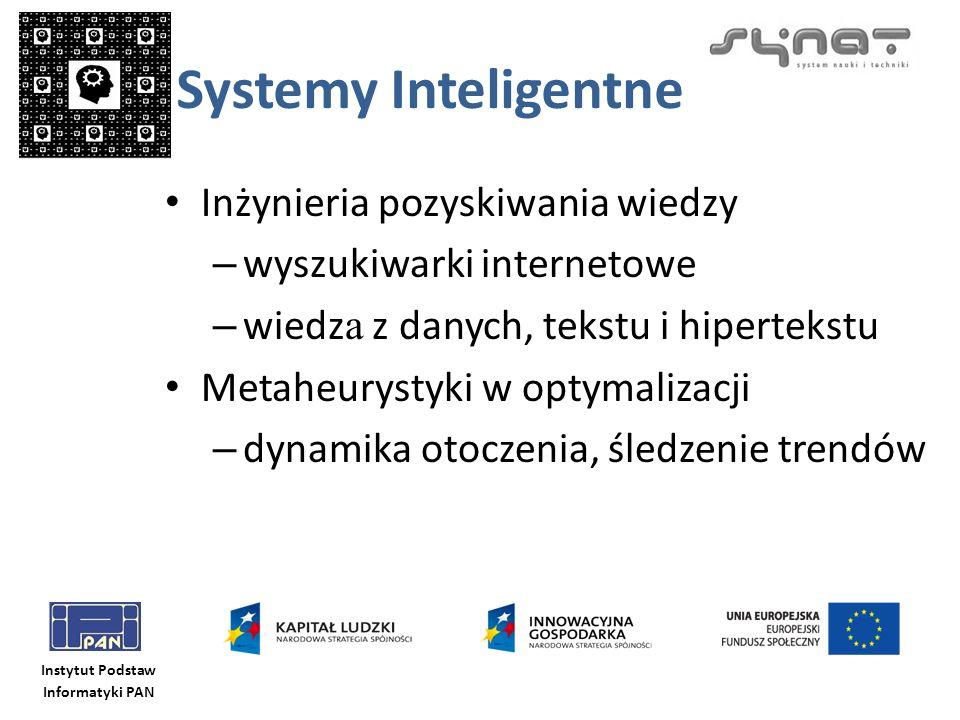Systemy Inteligentne Inżynieria pozyskiwania wiedzy