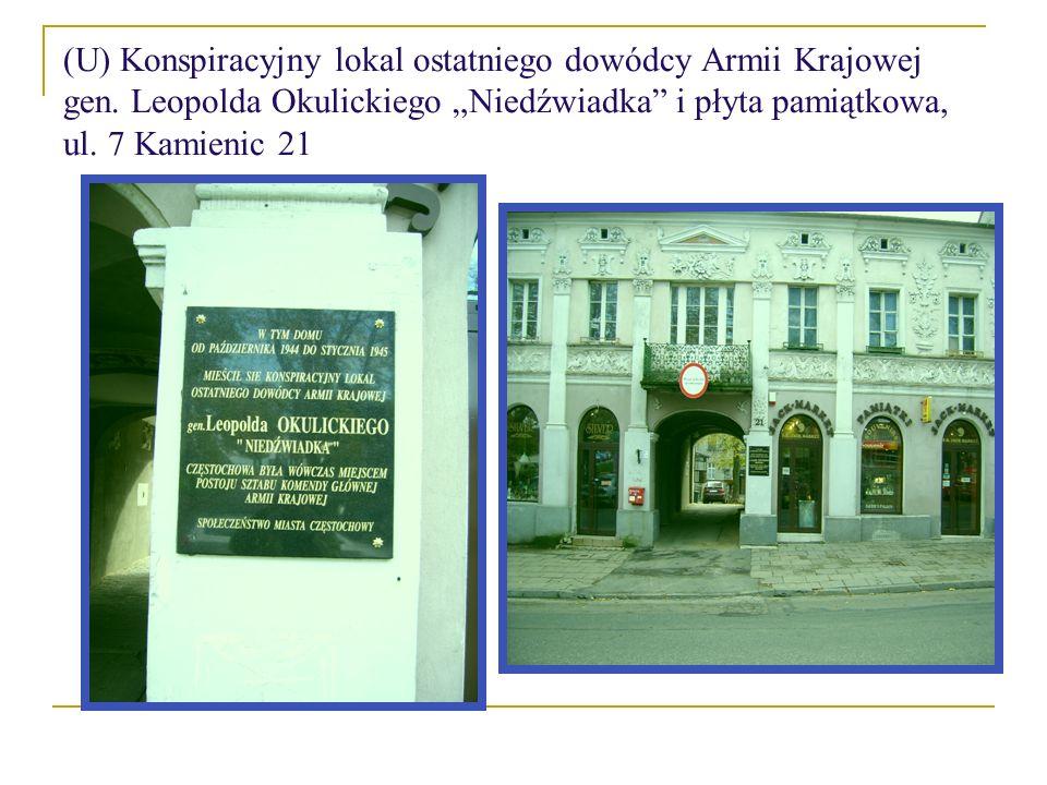 (U) Konspiracyjny lokal ostatniego dowódcy Armii Krajowej gen