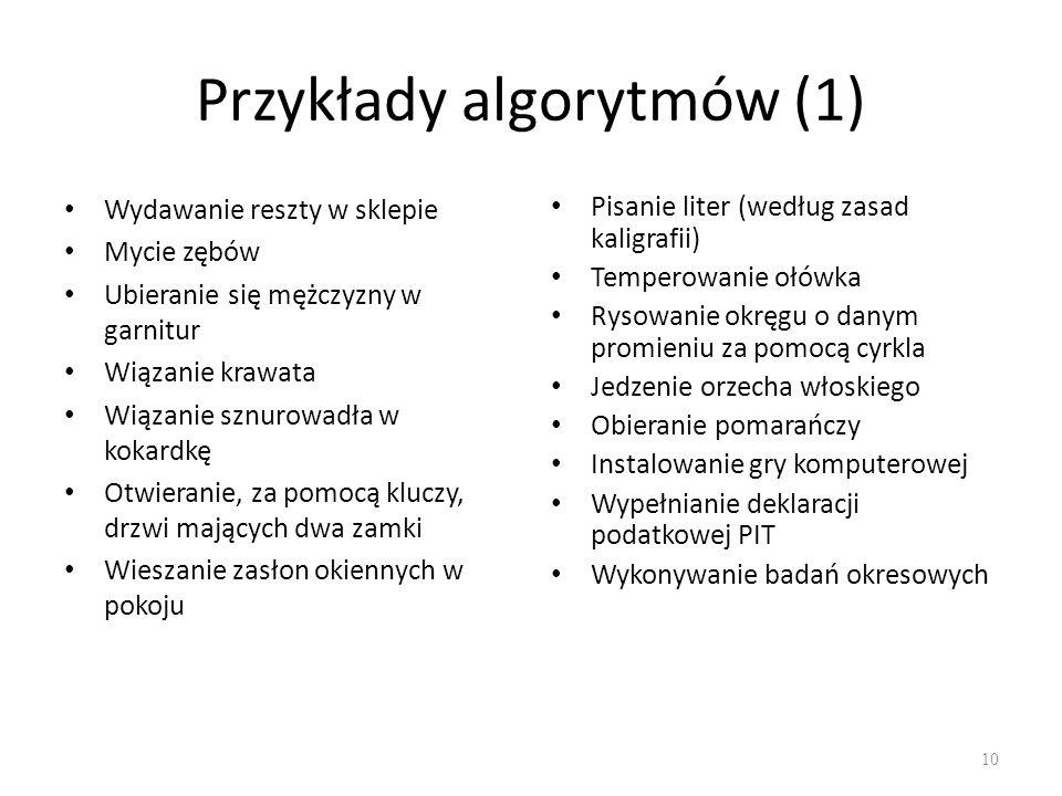 Przykłady algorytmów (1)