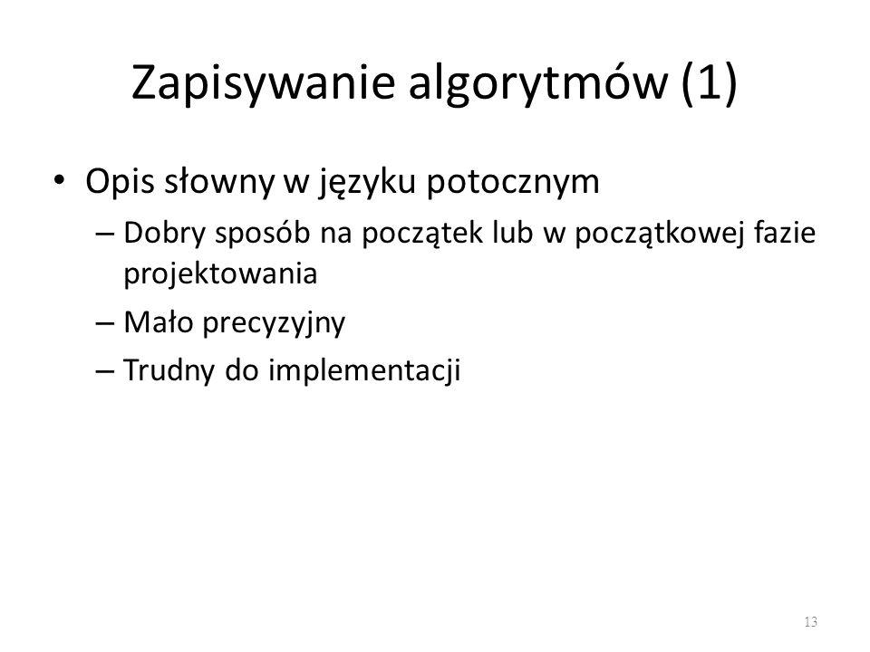 Zapisywanie algorytmów (1)