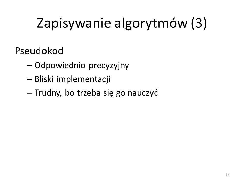 Zapisywanie algorytmów (3)