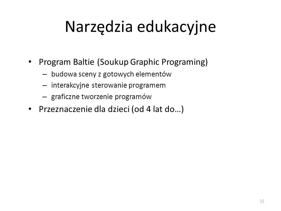Narzędzia edukacyjne Program Baltie (Soukup Graphic Programing)