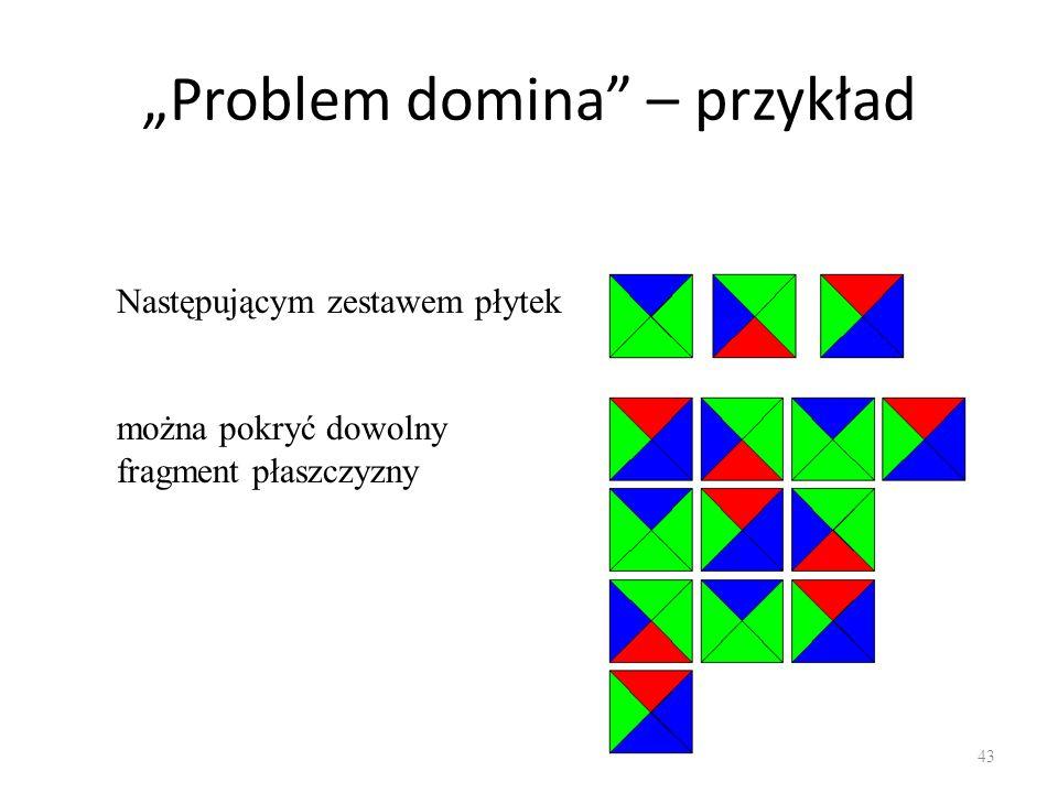 """""""Problem domina – przykład"""