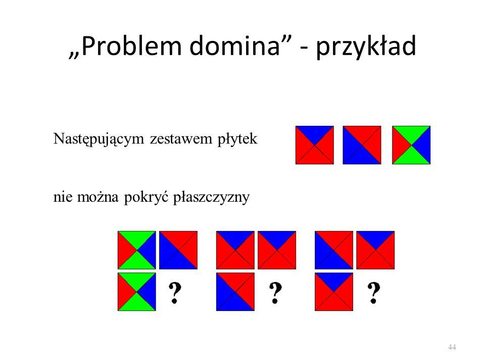 """""""Problem domina - przykład"""