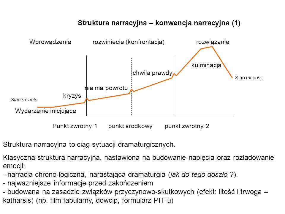 Struktura narracyjna – konwencja narracyjna (1)