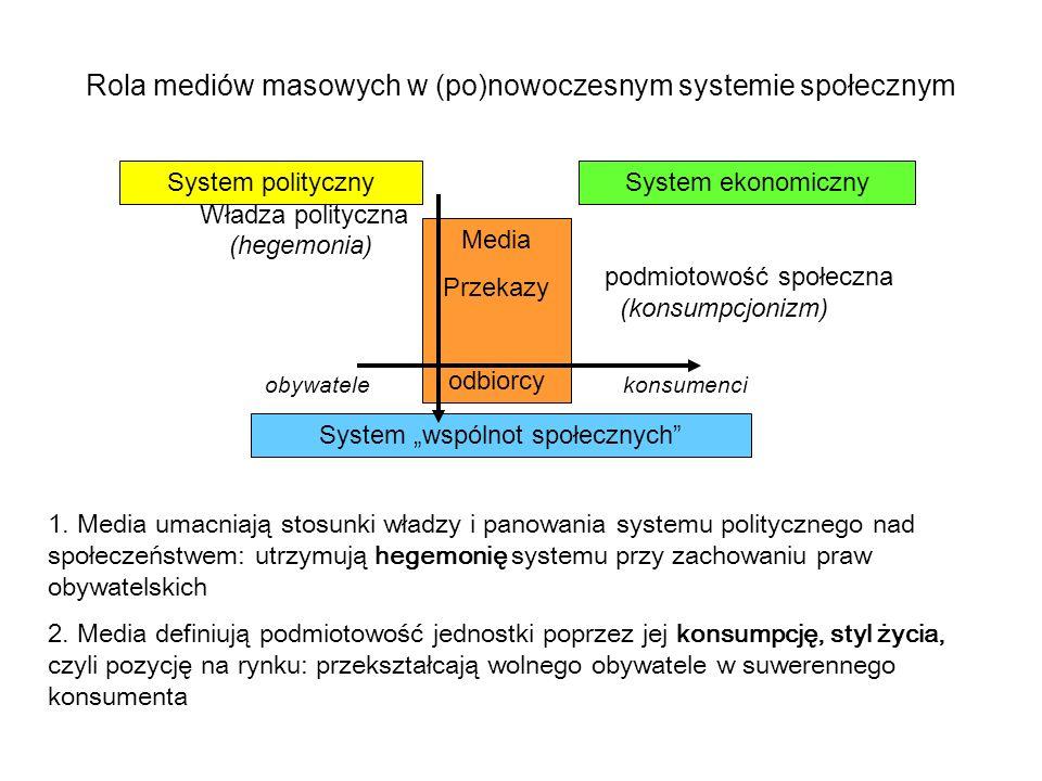 Rola mediów masowych w (po)nowoczesnym systemie społecznym
